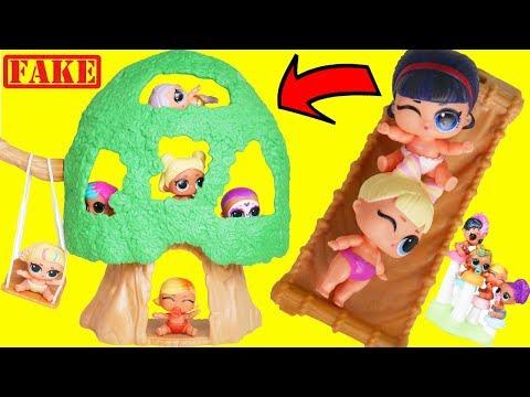 LOL Surprise Dolls Custom Unicorn Visit Ooh La La Tree House | Toy Egg Videos