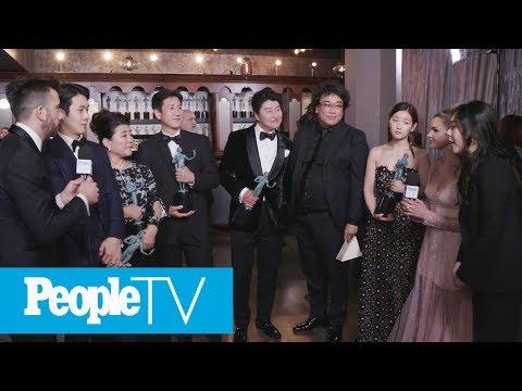 'Parasite' Cast On 'Crying Tears Of Joy' After Win, Meeting Brad Pitt & Glenn Close | PeopleTV