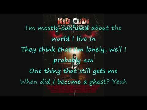 Kid Cudi- Ghost Lyrics on Screen HD