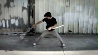 Learn Martial Arts: Kalman Csoka Double Samurai Sword Training & Strikes Hyper DVD
