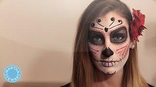 DIY Sugar Skull Makeup for Halloween - Martha Stewart