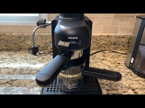 KRUPS 963B Mini   How to make an Espresso / Cappuccino