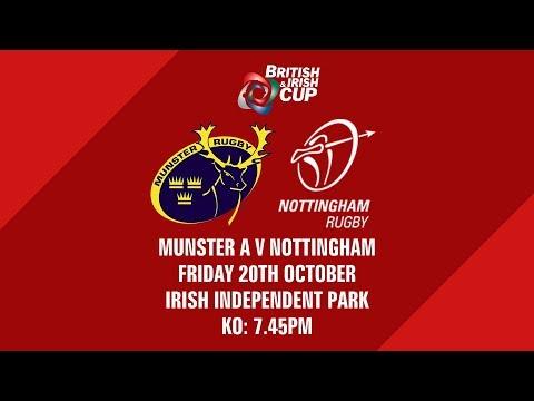Live Stream | B&I Cup | Munster A v Nottingham