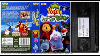 The Book of Pooh  Just Say BOO VHS (2003)