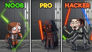 Minecraft - STAR WARS CHALLENGE! (NOOB vs PRO vs HACKER)