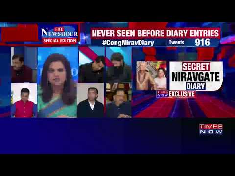 Newshour debate - PNB fraud case: Can Congress deny entries in Nirav Modi's diary?