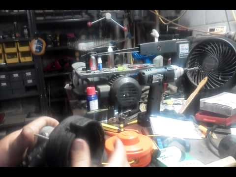 How to replace a string trimmer bump feed head