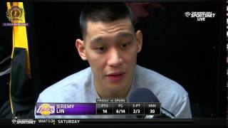 Jeremy Lin Post game interview | Lakers vs Spurs