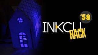 Maqueta de casitas de papel con luces y tinta conductiva InkCu
