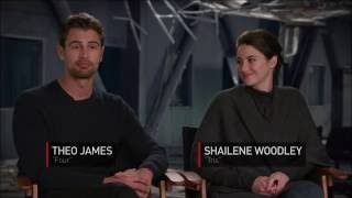 Shailene Woodley & Theo James on DIVERGENT SERIES: ALLEGIANT—Exclusive Interview by Gaia Melikian.