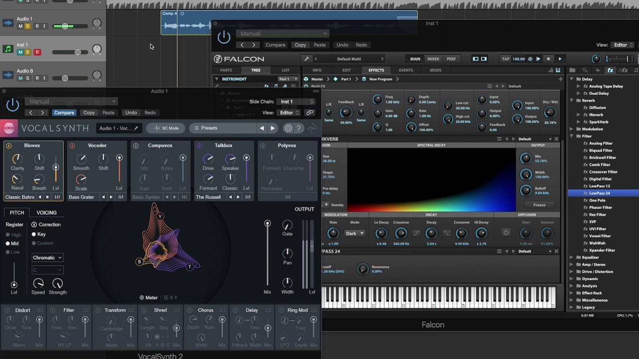 Crazy Granular Vocoder Sound \\ VocalSynth 2 and UVI Falcon