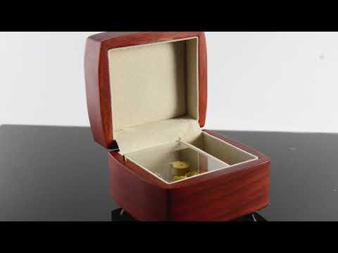 Beautiful Wood Tone Chic 18 Note Petite Music Jewelry Box