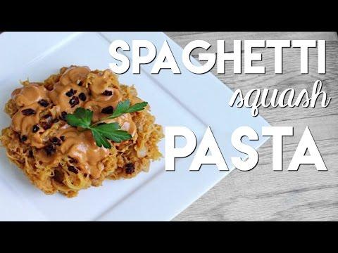 Spaghetti Squash with Creamy Vegan Tomato Sauce