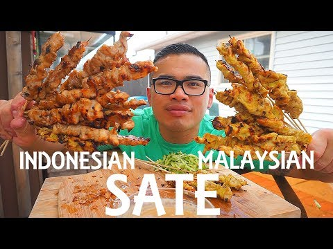 SATE  (SATAY) | Indonesian & Malaysian Skewered and Grilled Meat | MUKBANG | QT