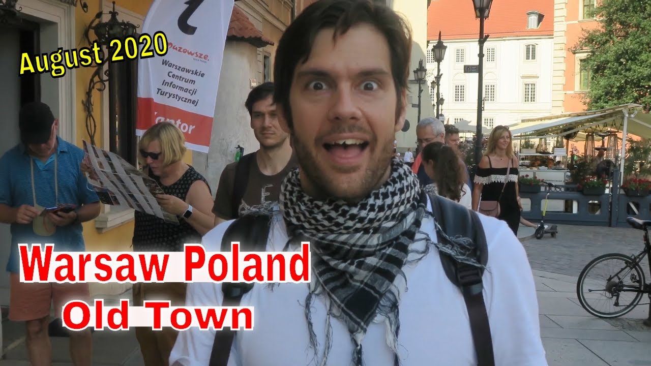 Warsaw Poland Super Nice, Clean and Amazing Old Town City - Travel Vlog August 2020