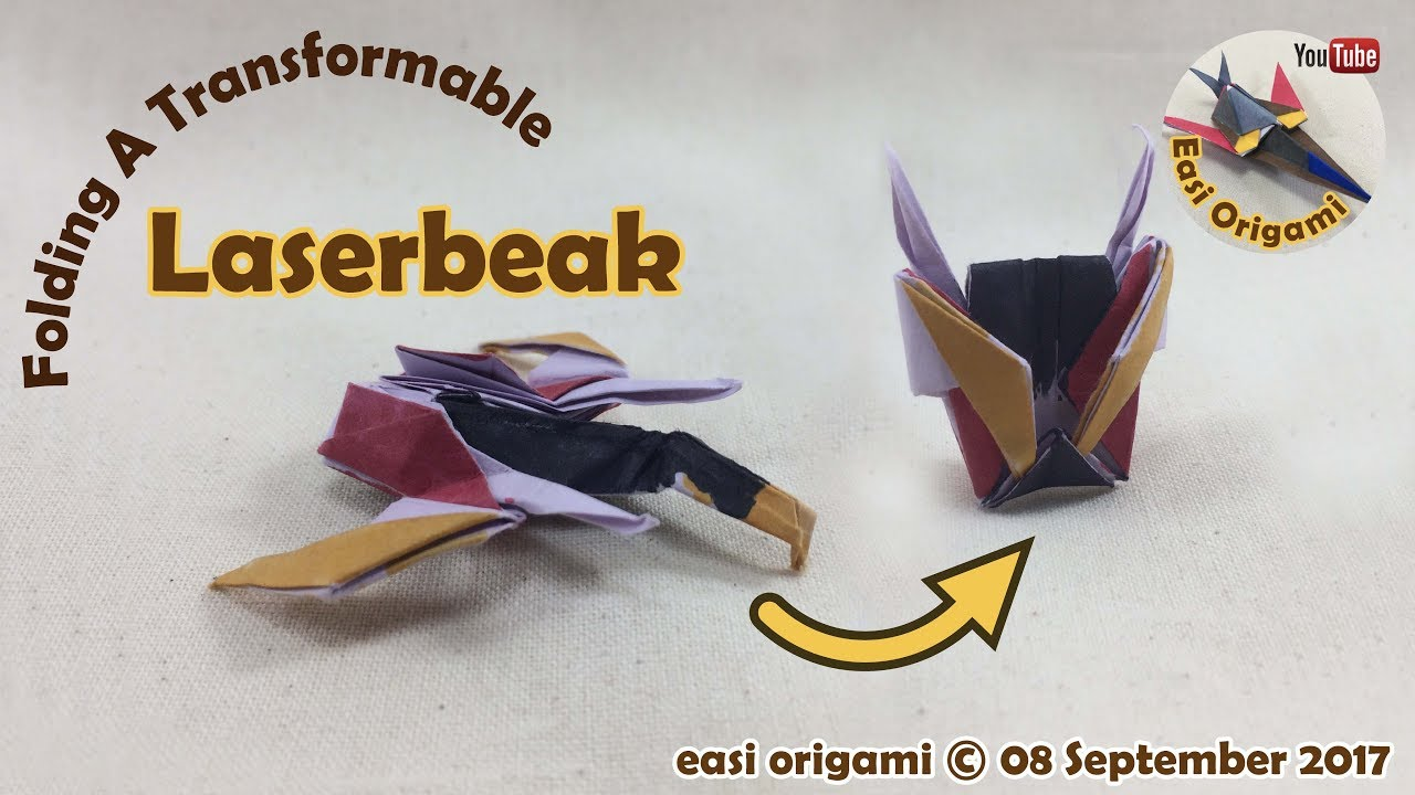 How to make a papercraft origami laserbeak requires 1 straight how to make a papercraft origami laserbeak requires 1 straight cut jeuxipadfo Images