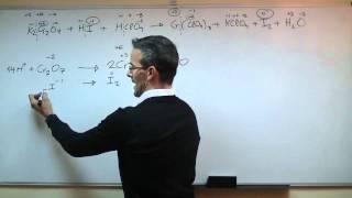 Ajustar una reacción en medio acido - Ion-electron 2ºBACHI quimica unicoos REDOX