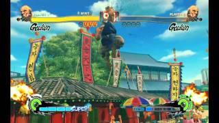 超级街头霸王4街机版 Gouken(真.昇龍拳★)(電刃波動拳★)(K. O.時間)(高清HD)