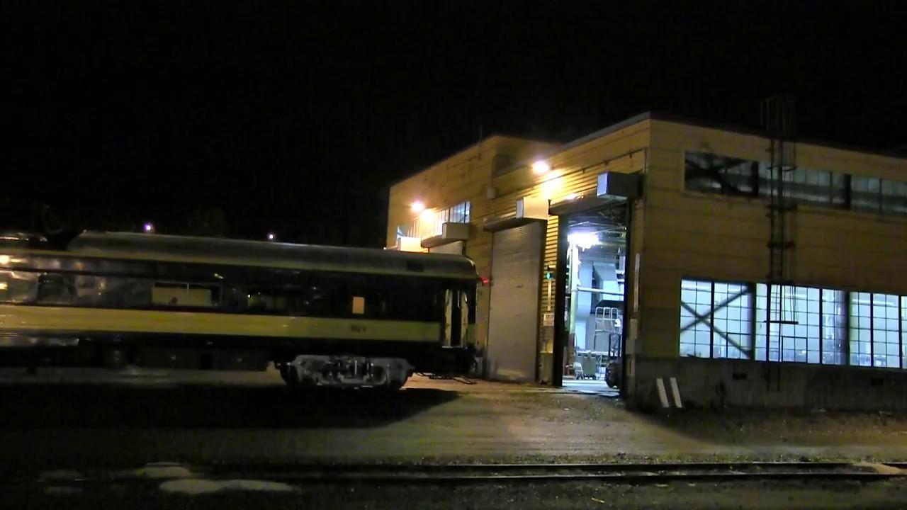 Alaska Railroad Backs The Denali Star Into The Anchorage Car Shop