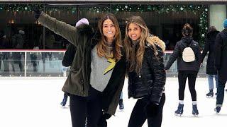 El arte de Coral Simanovich patinando sobre hielo en Nueva York