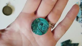 Making jewelry from acrylic skins