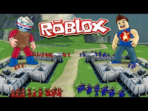 Roblox Movie | RED VS BLUE VS YELLOW VS GREEN BASE WARS! (Ro