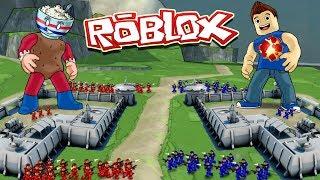 Roblox Movie   RED VS BLUE VS YELLOW VS GREEN BASE WARS! (Roblox Base Conquer)
