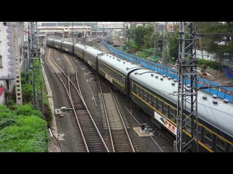Passenger train K7089 leaving Harbin station