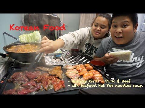 Mukbang Korean Food Bulgogi Grill - Pork and Beef