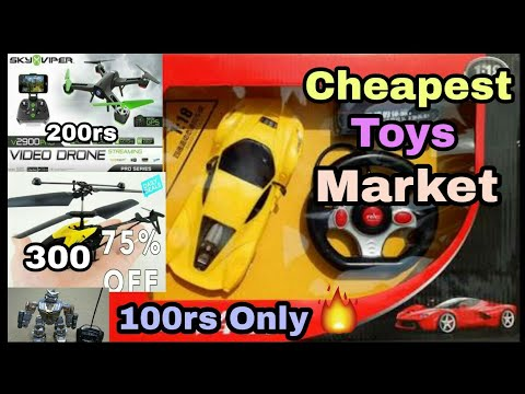 Cheapest Toys wholesale Market in Delhi | Drone, Remote cantrol car helicopter | Sadar Bazaar