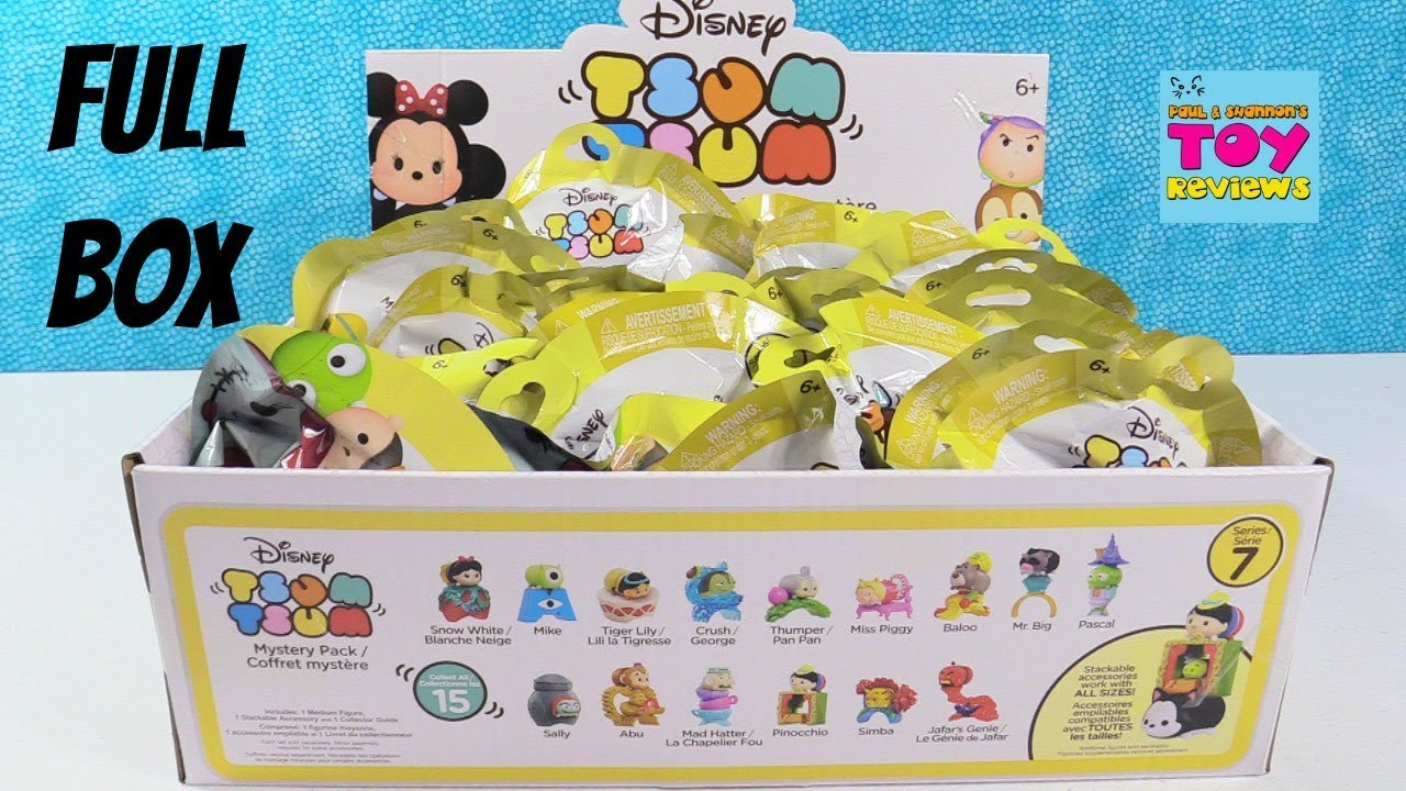 Disney Tsum Tsum Series 7 Full Box Mystery Pack Toy Review