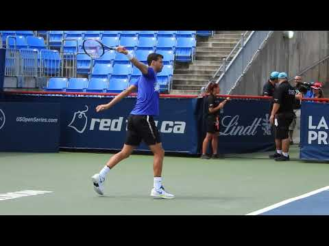 2017 08 10 Grigor Dimitrov hitting session at Rogers Cup Montreal