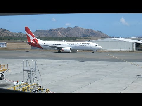 Qantas QF92 Noumea New Caledonia to Sydney B737 Economy Class