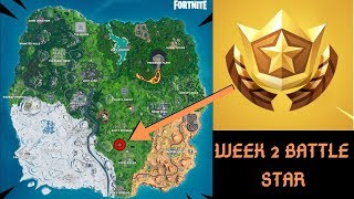 Week 2 Secret Battle Pass Star Locations Fortnite Season X