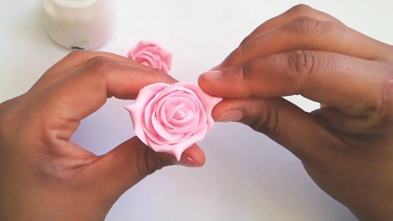 Rosas De Migajón Porcelana Fria Paso A Paso Coldporcelain Roses Diy