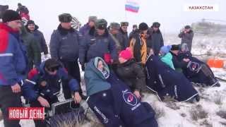 Вертолетчики ищут космонавтов в тумане(Видеоновости РИА
