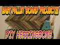DIY Pallet wood CHEVRON pattern (easy pattern)