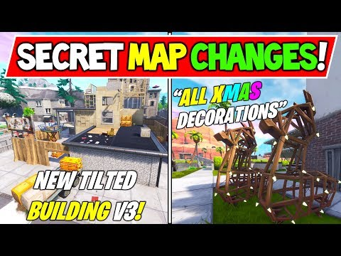 "*NEW* FORTNITE SEASON 7 SECRET MAP CHANGES! ""ALL CHRISTMAS DECORATIONS"" (Season 7 Storyline)"