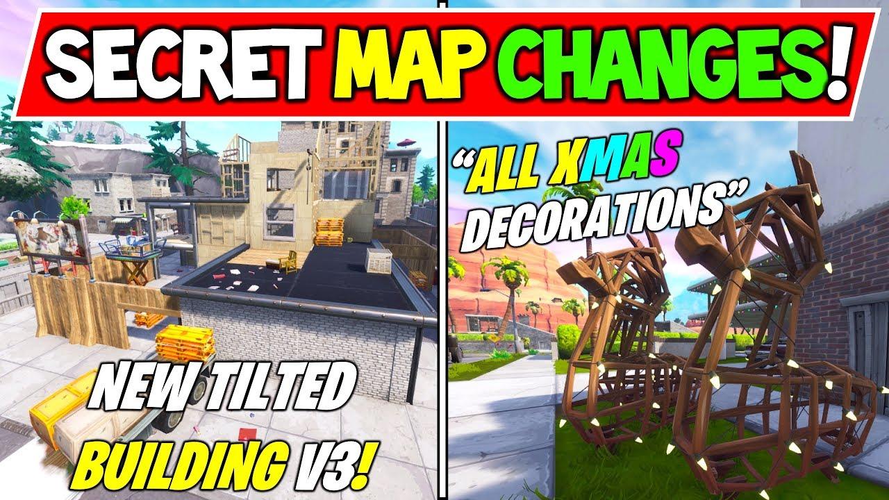 New Fortnite Season 7 Secret Map Changes All Christmas