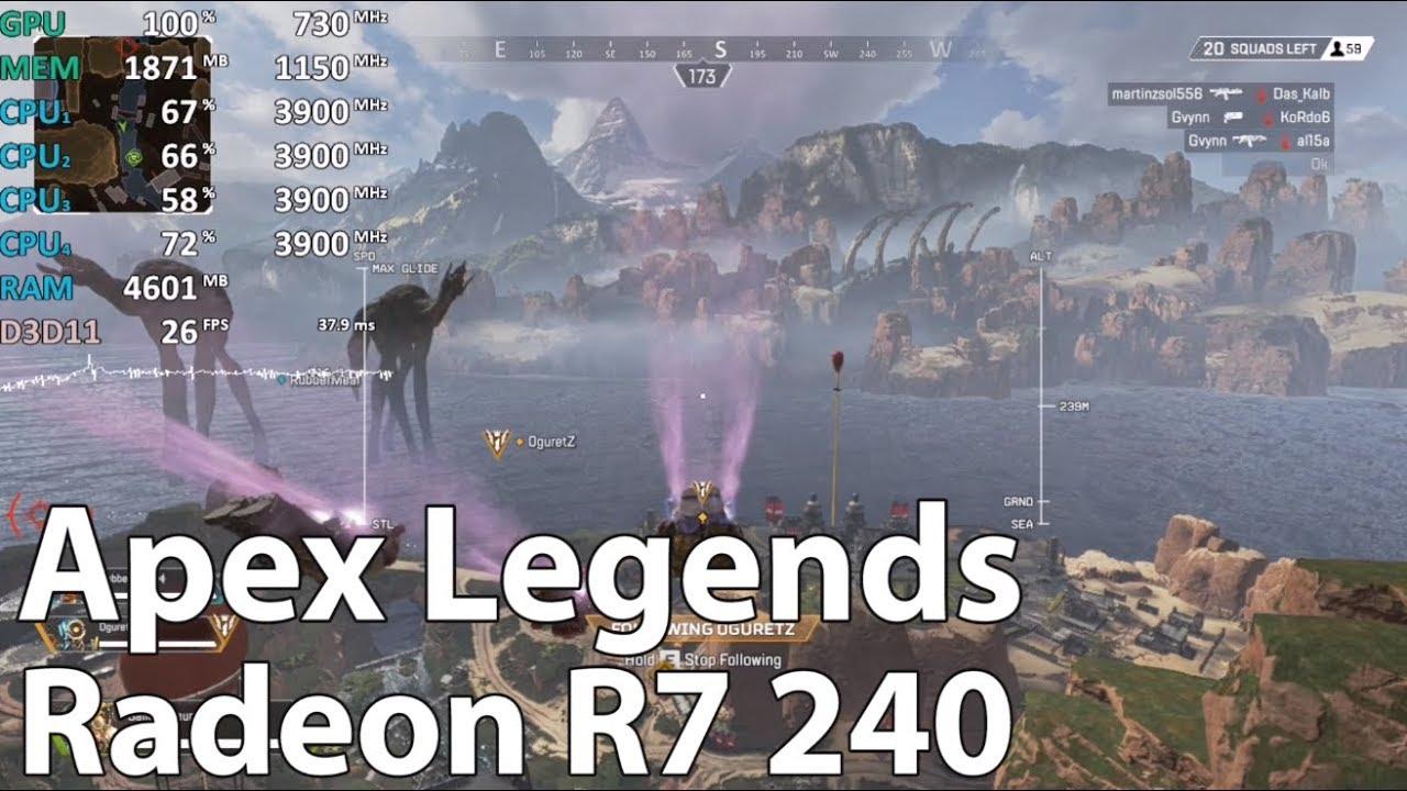 Radeon R7 240 - Apex Legends - Gameplay Benchmark Test (Athlon 200GE)