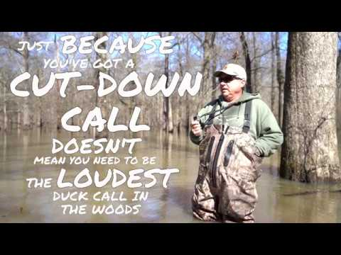 Kirk McCullough Arkansas Cut-Down Rough Finish Threaded Keyhole Duck Call