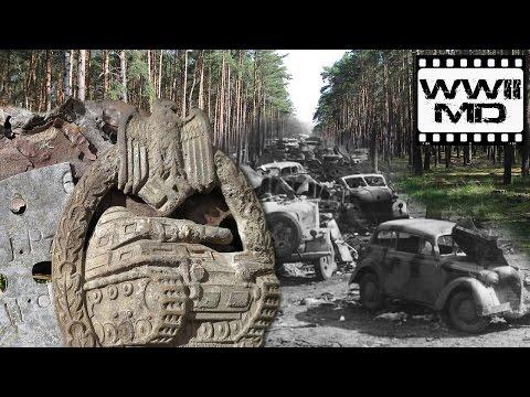 Раскопки на военной дороге Восточного фронта, пряжка SS. WWII Metal Detecting