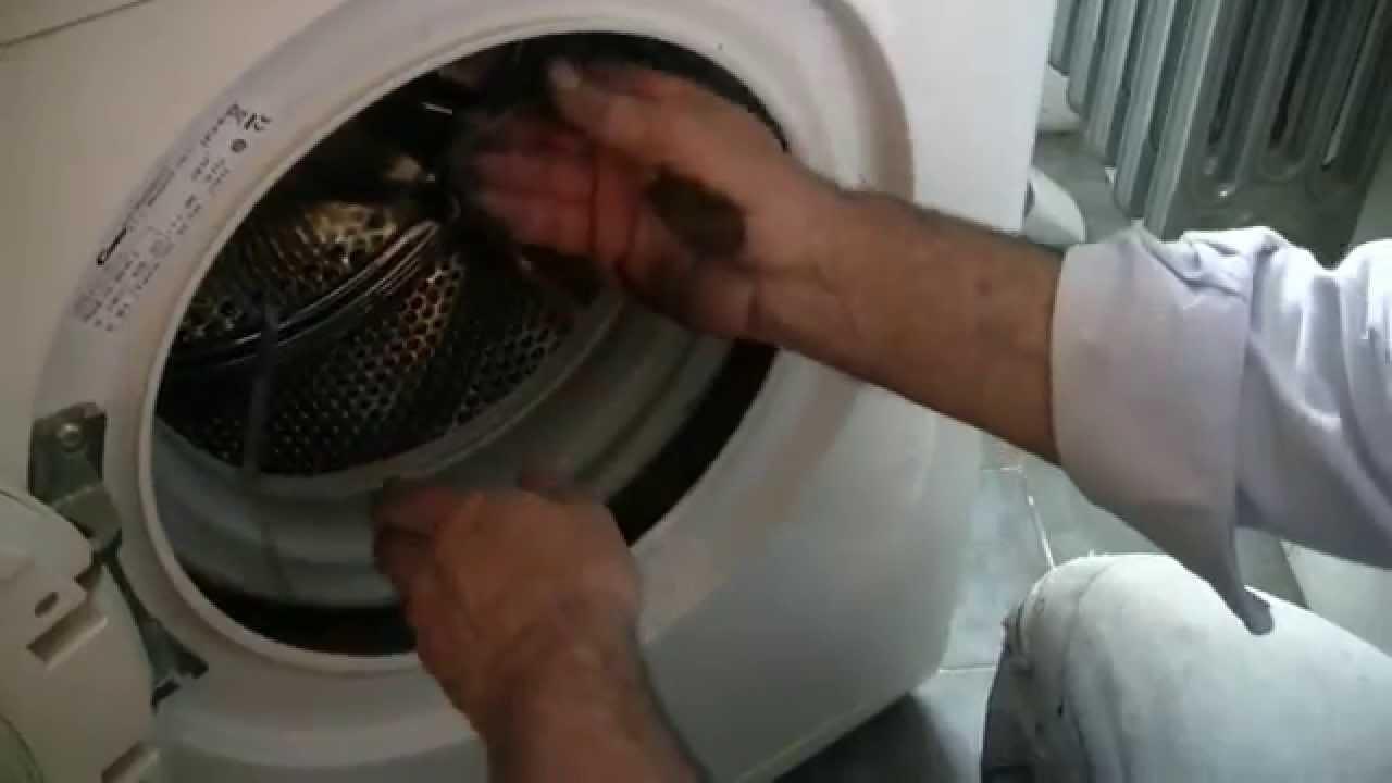 Sostituzione Gomma Obl 242 Lavatrice Candy Youtube