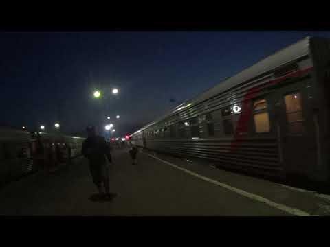 Прибытие в Ярославль поезда 70 Чита — Москва и новый информатор (18 июня 2018)
