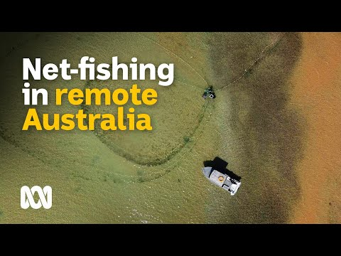 Commercial Hand Net Fishing In Remote Australia