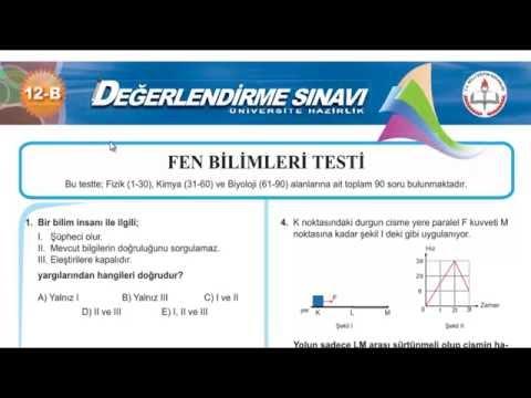 LYS FİZİK DENEME - 1 BÖLÜM 1