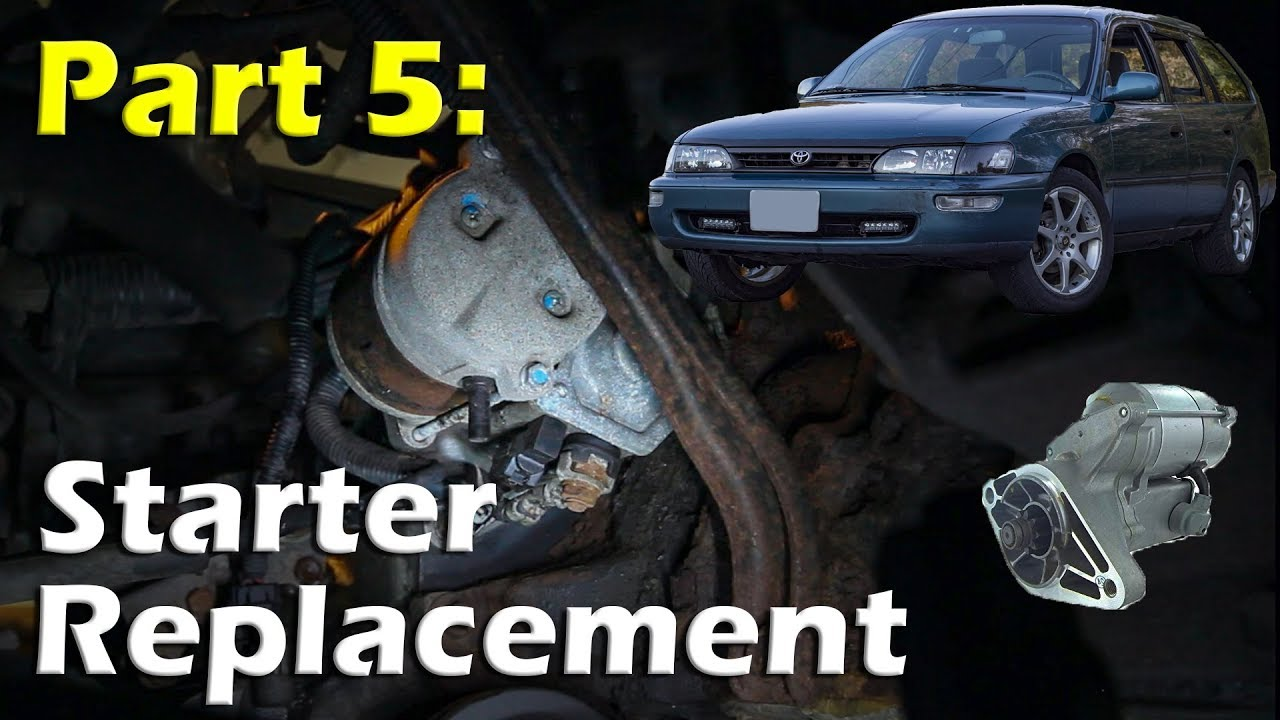 replacing starter on a 93 97 toyota corolla youtube replacing starter on a 93 97 toyota corolla