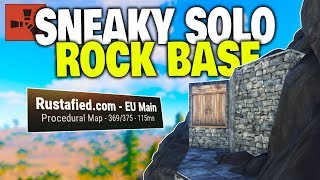Building a Sneaky Rock Base Next to Huge Clans! - Rust Solo Survival Part 1