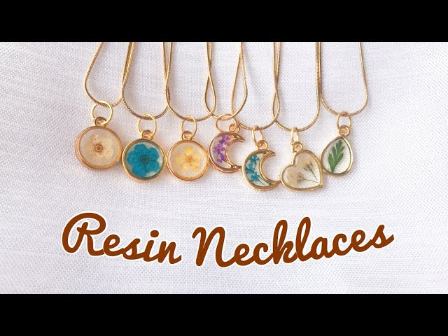 How To Make Resin Necklaces | Minimalist Resin Necklaces | UV Resin