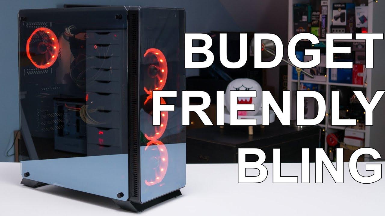 A cheap RGB TG computer case Sahara P35 Build and Review